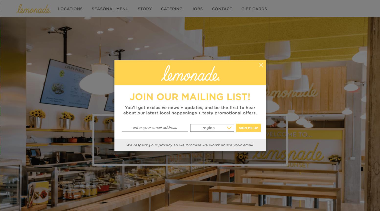 lemonade - mailing list